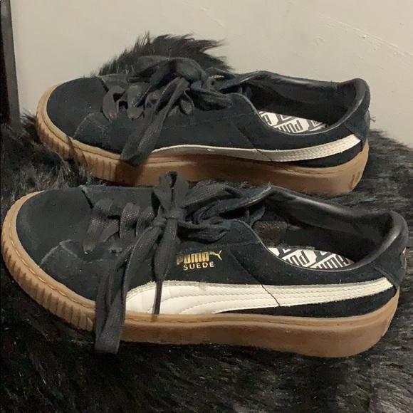 timeless design 3950f 58edd Puma Suede Platform Core Gum Bottom Sneakers